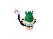 Béla the frog - plush monster