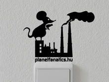 Atmosphere cleaner mouse wall sticker