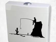 WC horgász matrica