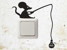 Electric Mouse wall sticker