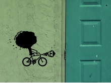 Bike Storage wall sticker